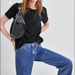 Zara patent  leather belt bag , top designers like
